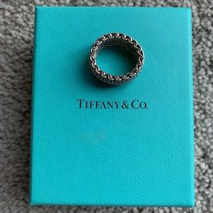 Tiffany & Co. Jewelry - Tiffany & Co. Somerset Sterling Silver Ring Size 7
